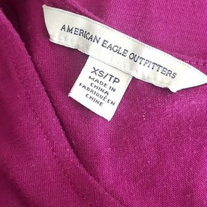 American Eagle Racerback Purple Zipper Tank Top